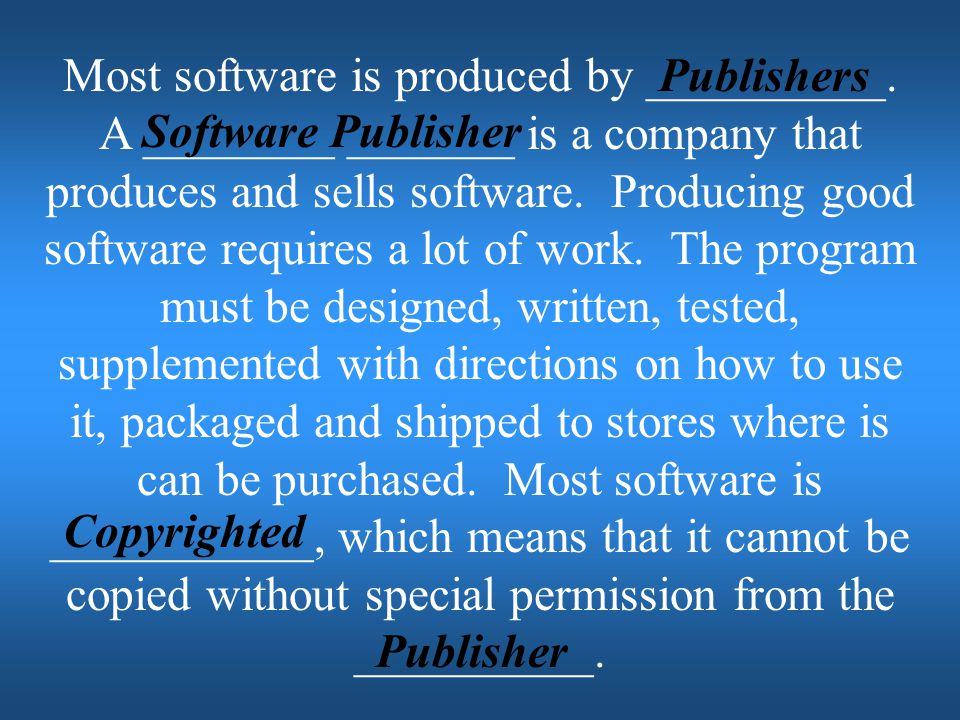 Most software is produced by __________