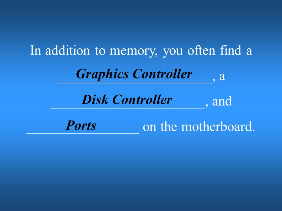 Graphics Controller Disk Controller Ports