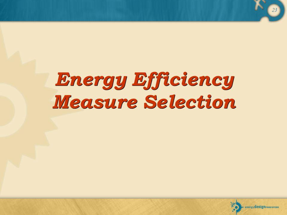 Energy Efficiency Measure Selection