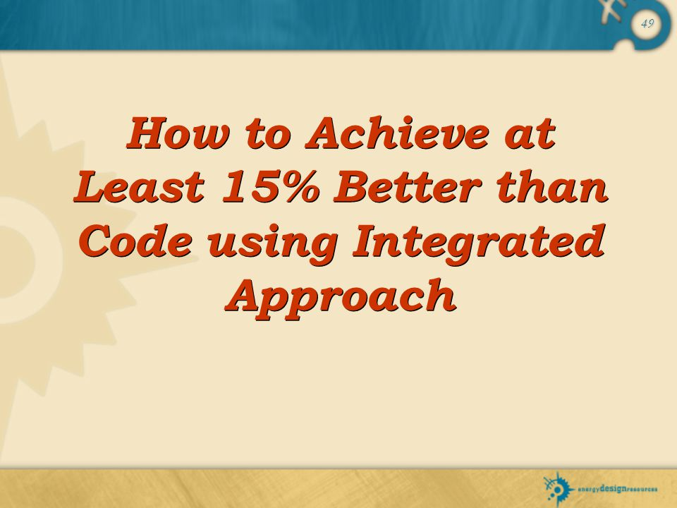 How to Achieve at Least 15% Better than Code using Integrated Approach