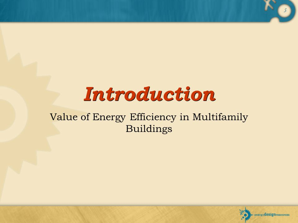 Value of Energy Efficiency in Multifamily Buildings