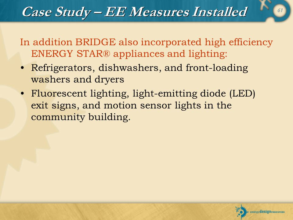 Case Study – EE Measures Installed
