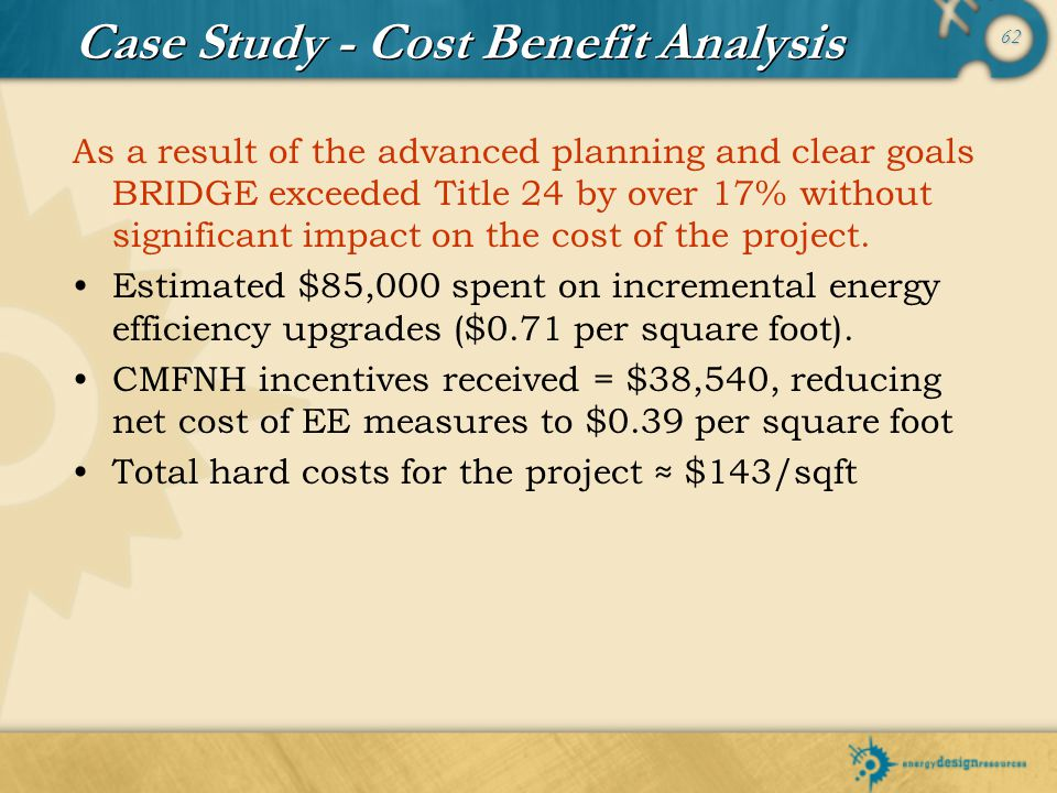 Case Study - Cost Benefit Analysis