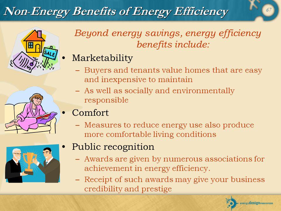 Non-Energy Benefits of Energy Efficiency