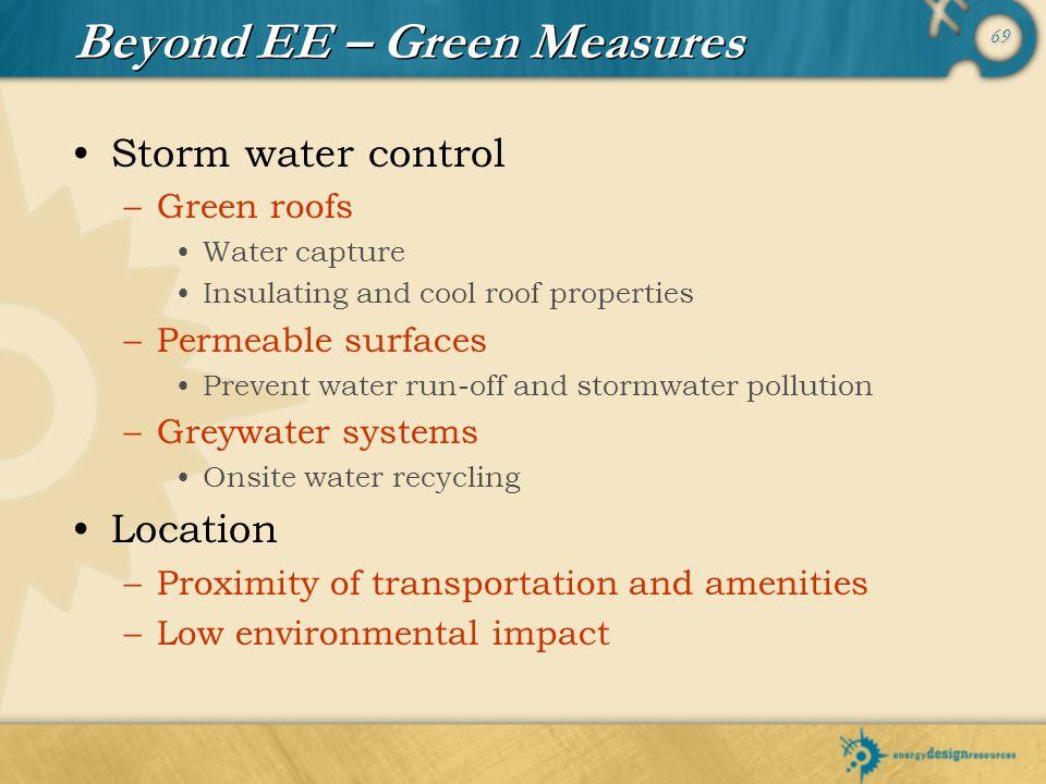 Beyond EE – Green Measures
