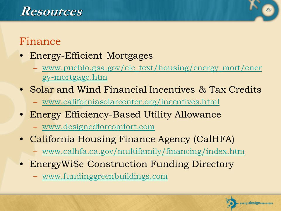 Resources Finance Energy-Efficient Mortgages