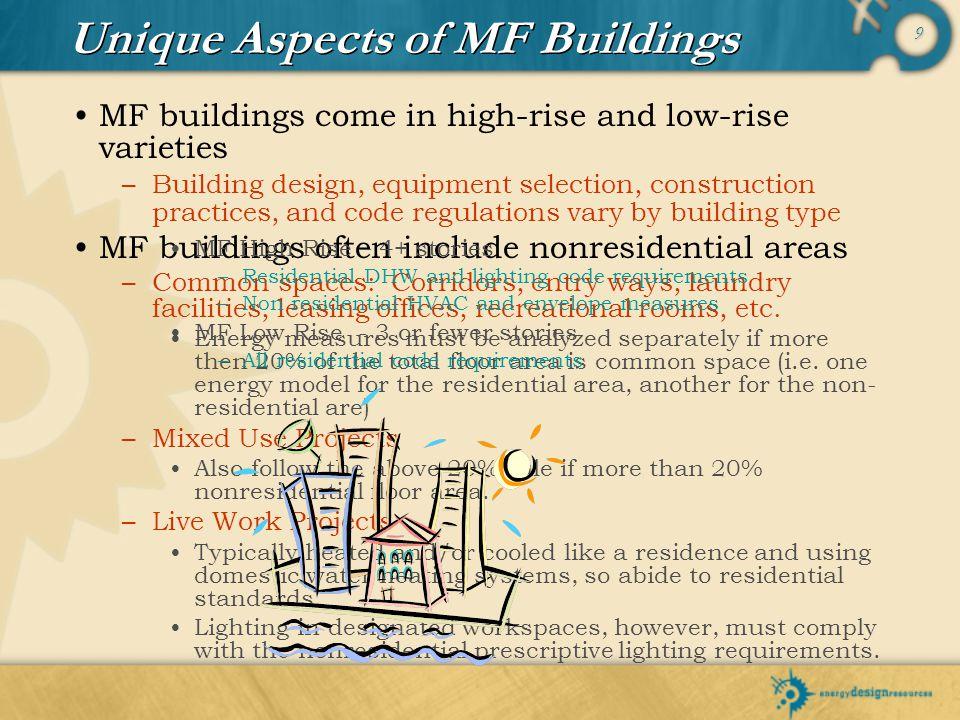 Unique Aspects of MF Buildings