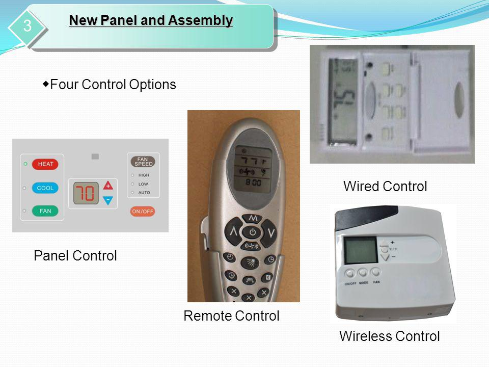 3 New Panel and Assembly ◆Four Control Options Wired Control