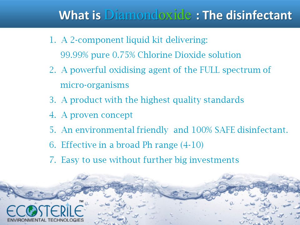 What is Diamondoxide : The disinfectant