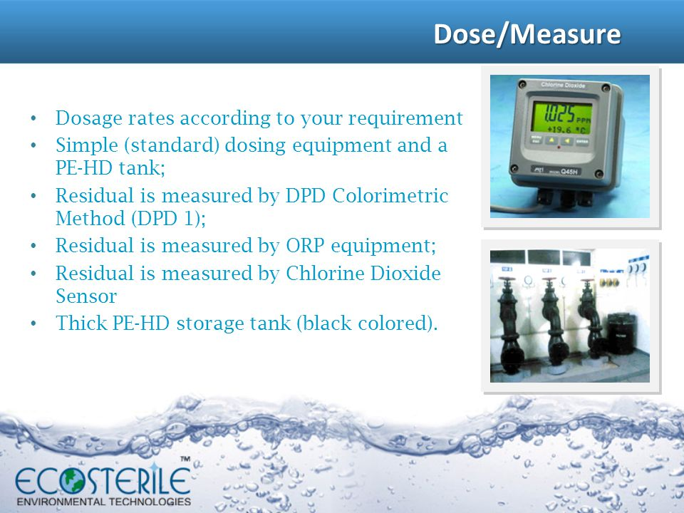 Dose/Measure Dosage rates according to your requirement