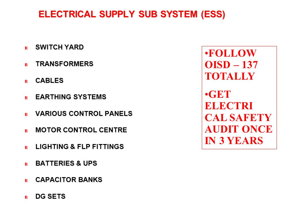 FIRE & SAFETY SUB SYSTEM
