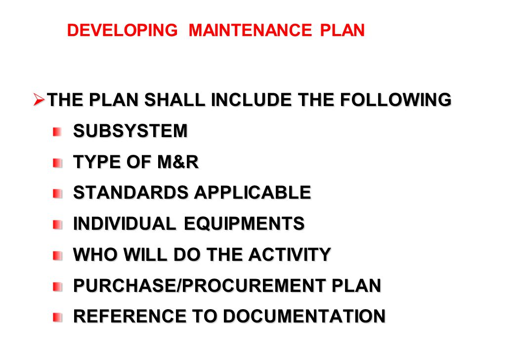 3.5 DOCUMENTATION ASSET LISTING MAINTENANCE SCHEDULE SPARES LUBE USED
