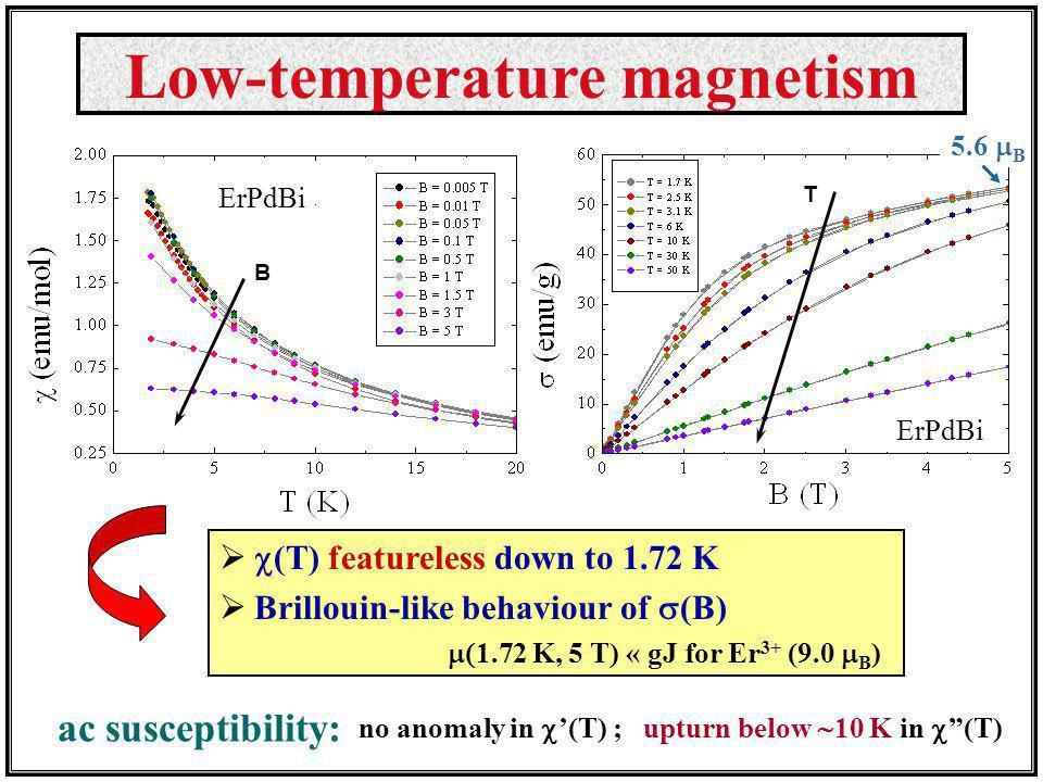 Low-temperature magnetism