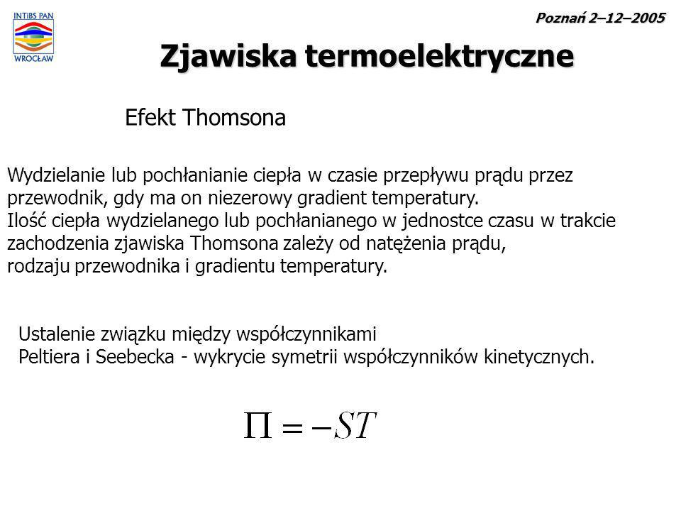 Zjawiska termoelektryczne