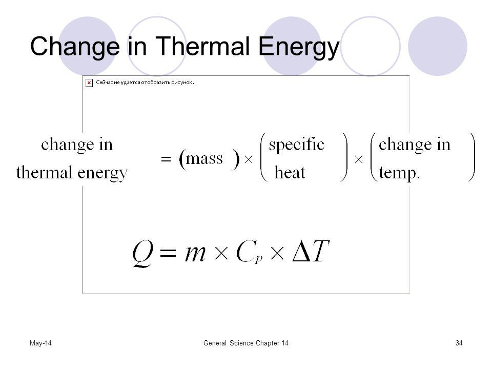 Change in Thermal Energy