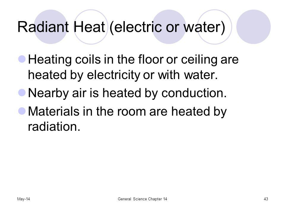 Radiant Heat (electric or water)