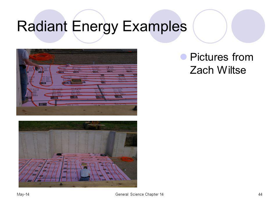 Radiant Energy Examples