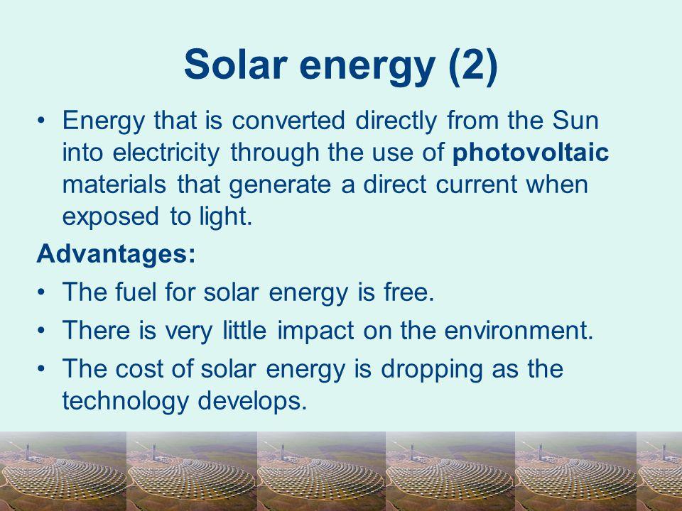 Solar energy (2)