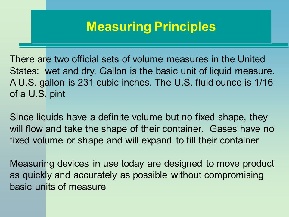 Measuring Principles
