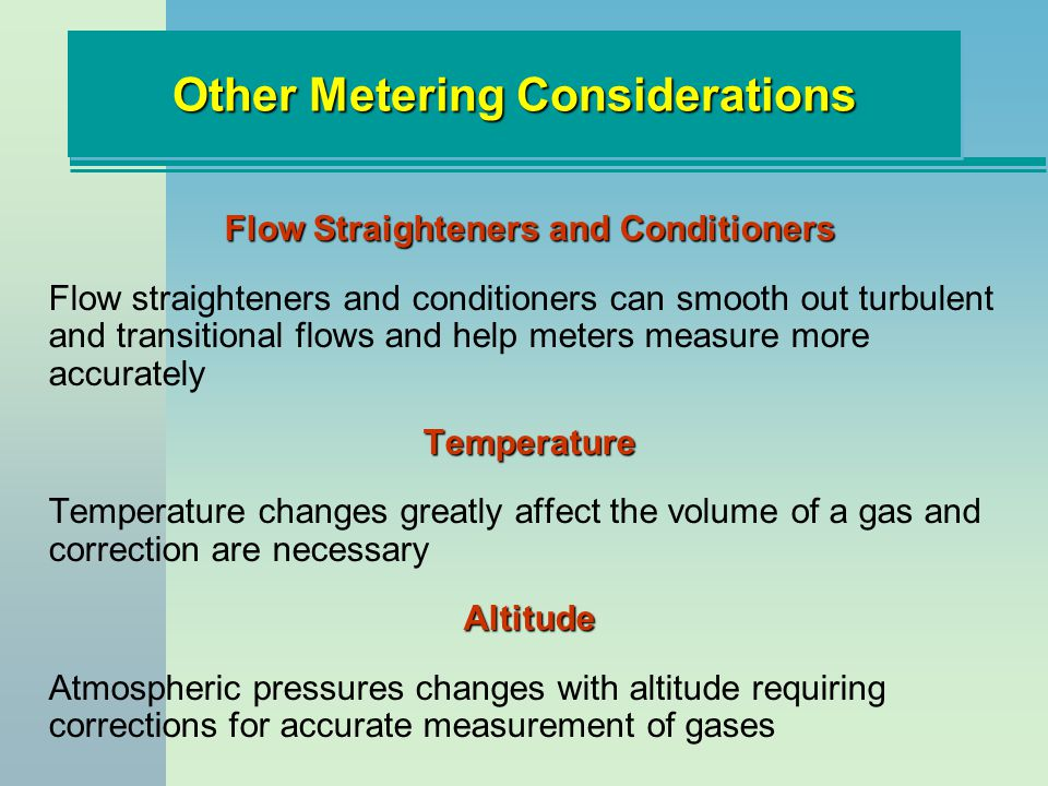 Other Metering Considerations