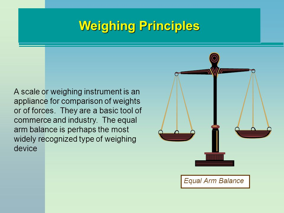 Weighing Principles
