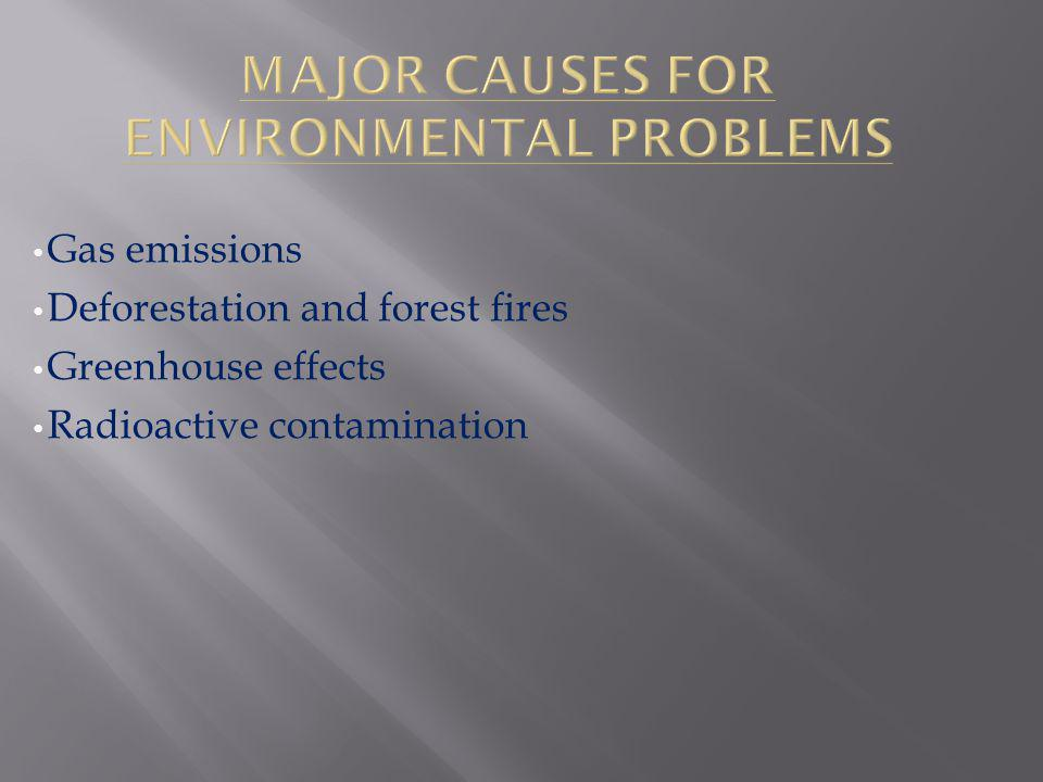 Major Causes For Environmental Problems