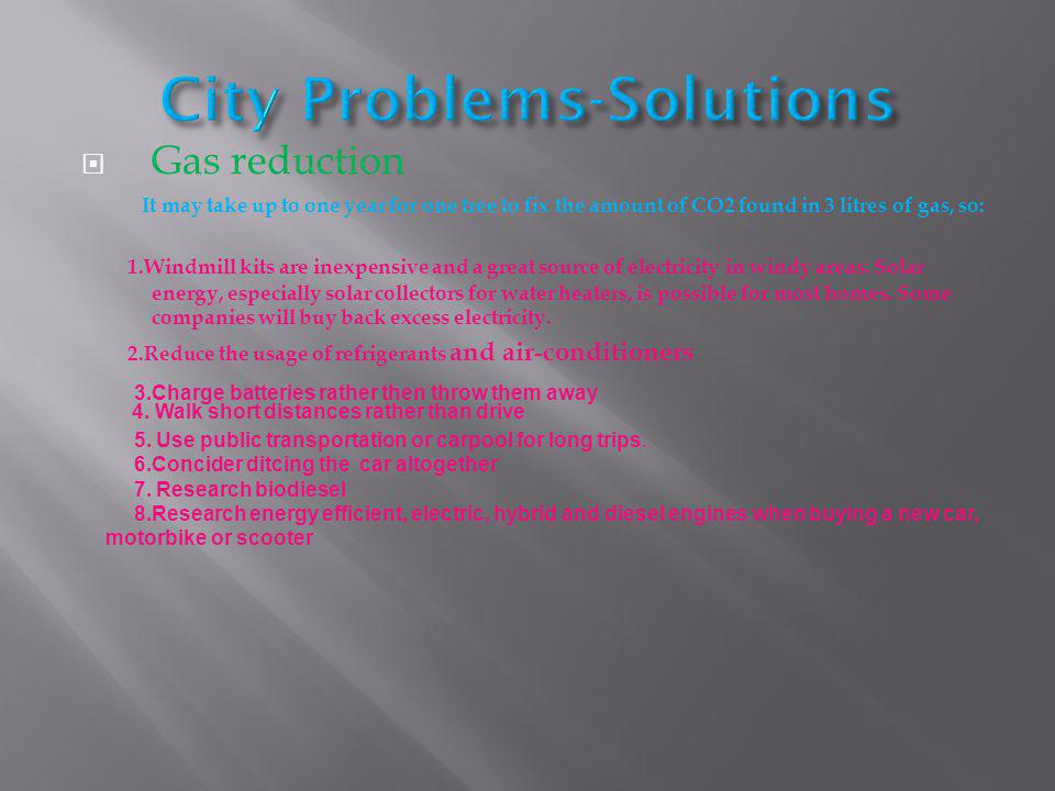 City Problems-Solutions