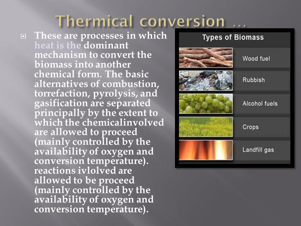 Thermical conversion …
