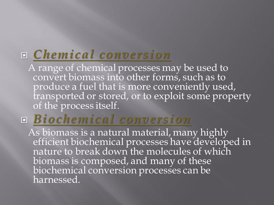 Biochemical conversion
