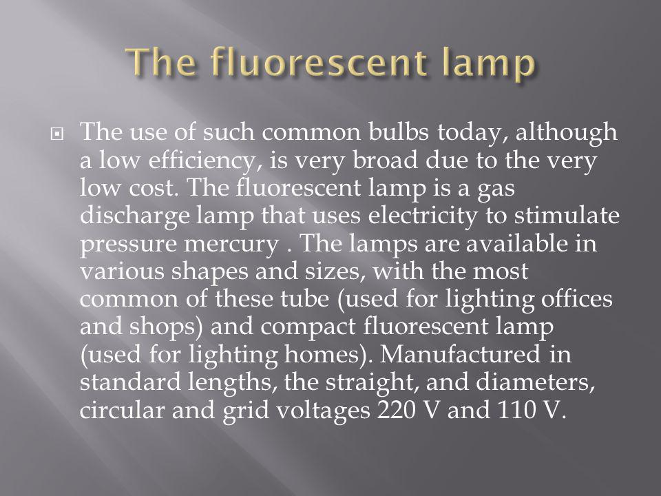 The fluorescent lamp