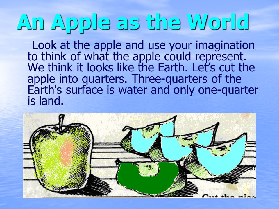 An Apple as the World