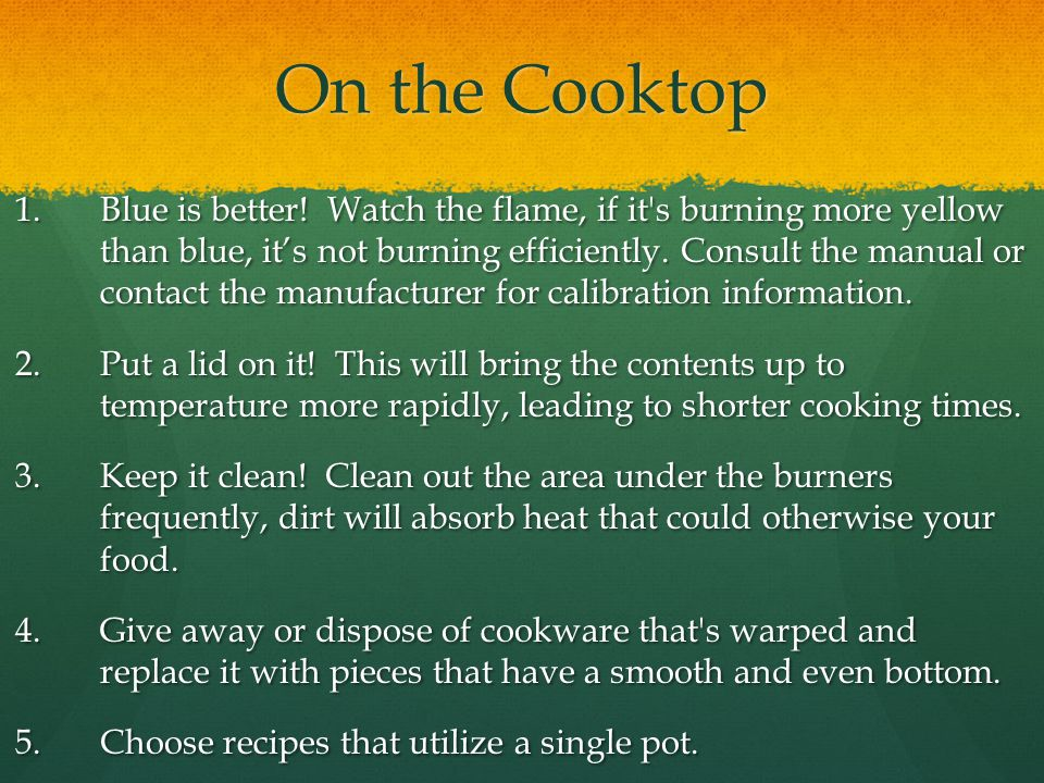 On the Cooktop