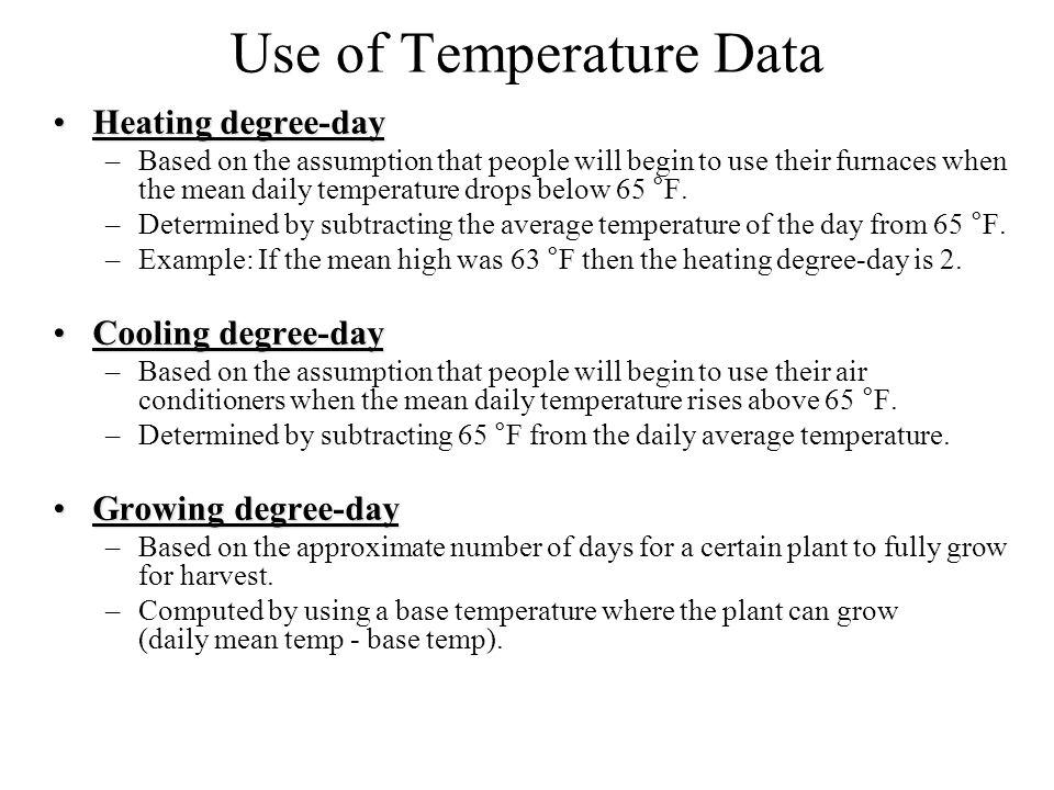 Use of Temperature Data