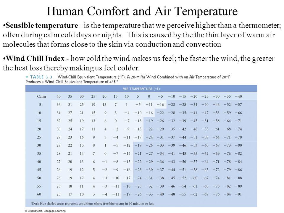Human Comfort and Air Temperature