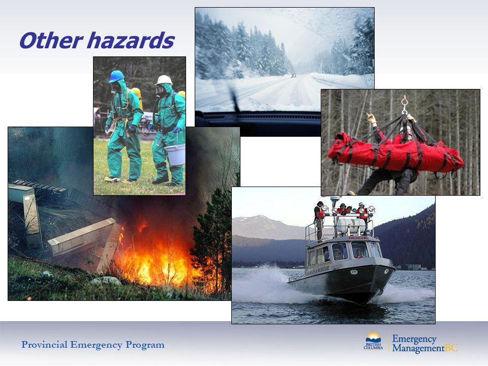 Other hazards Provincial Emergency Program