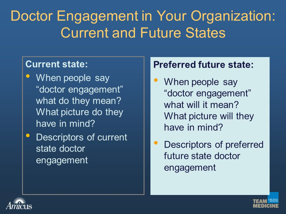 Doctor Engagement in Your Organization: Current and Future States