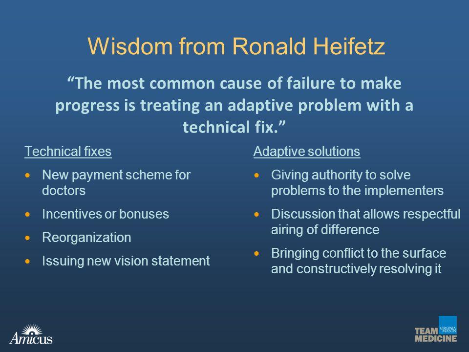 Wisdom from Ronald Heifetz