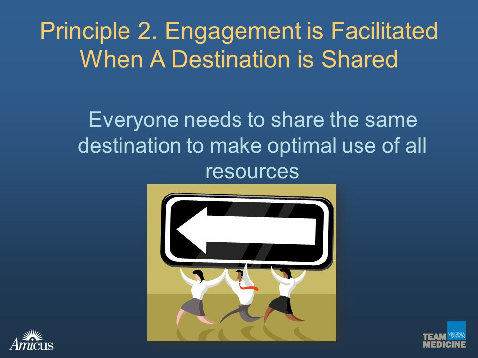 Principle 2. Engagement is Facilitated When A Destination is Shared