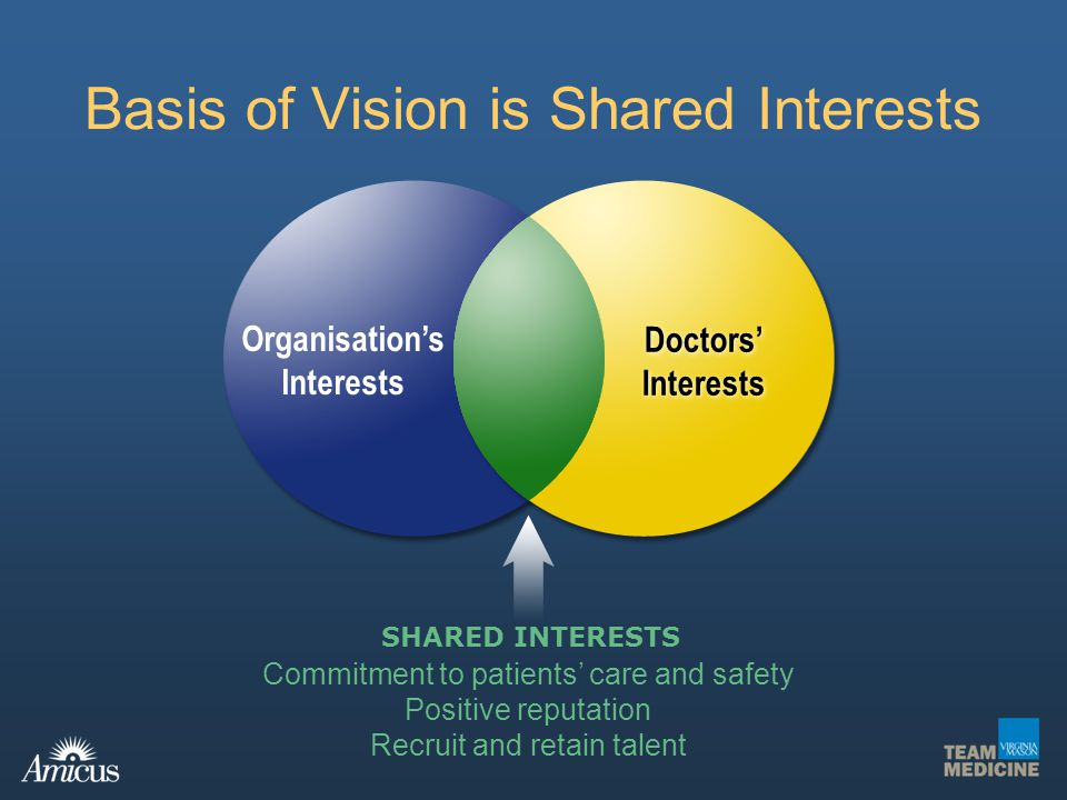Basis of Vision is Shared Interests
