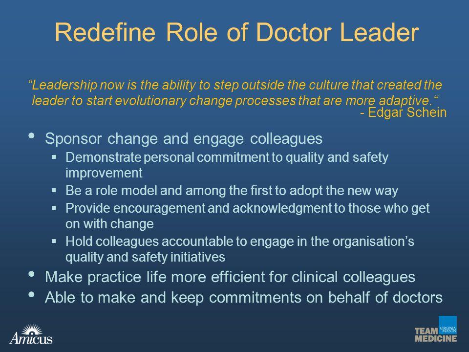 Redefine Role of Doctor Leader