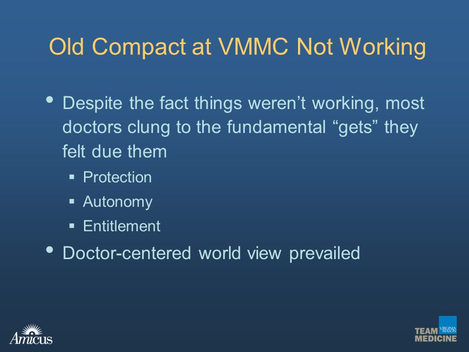 Old Compact at VMMC Not Working