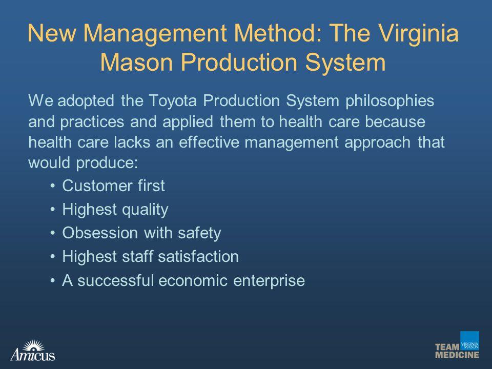 New Management Method: The Virginia Mason Production System