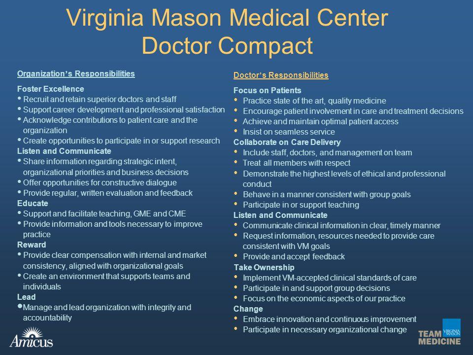 Virginia Mason Medical Center Doctor Compact