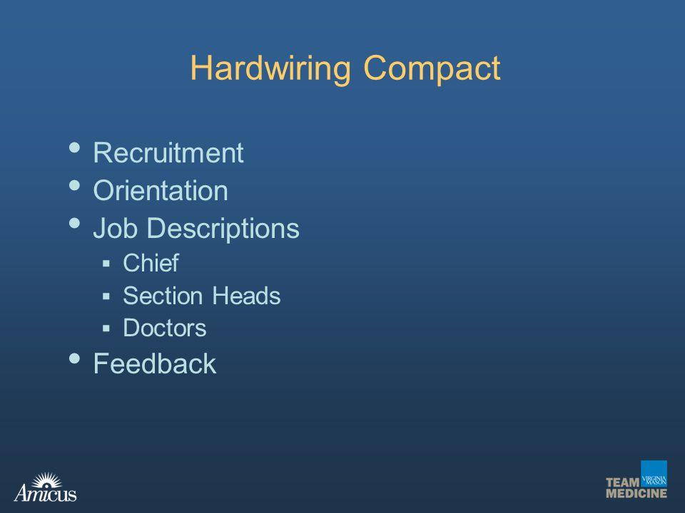 Hardwiring Compact Recruitment Orientation Job Descriptions Feedback