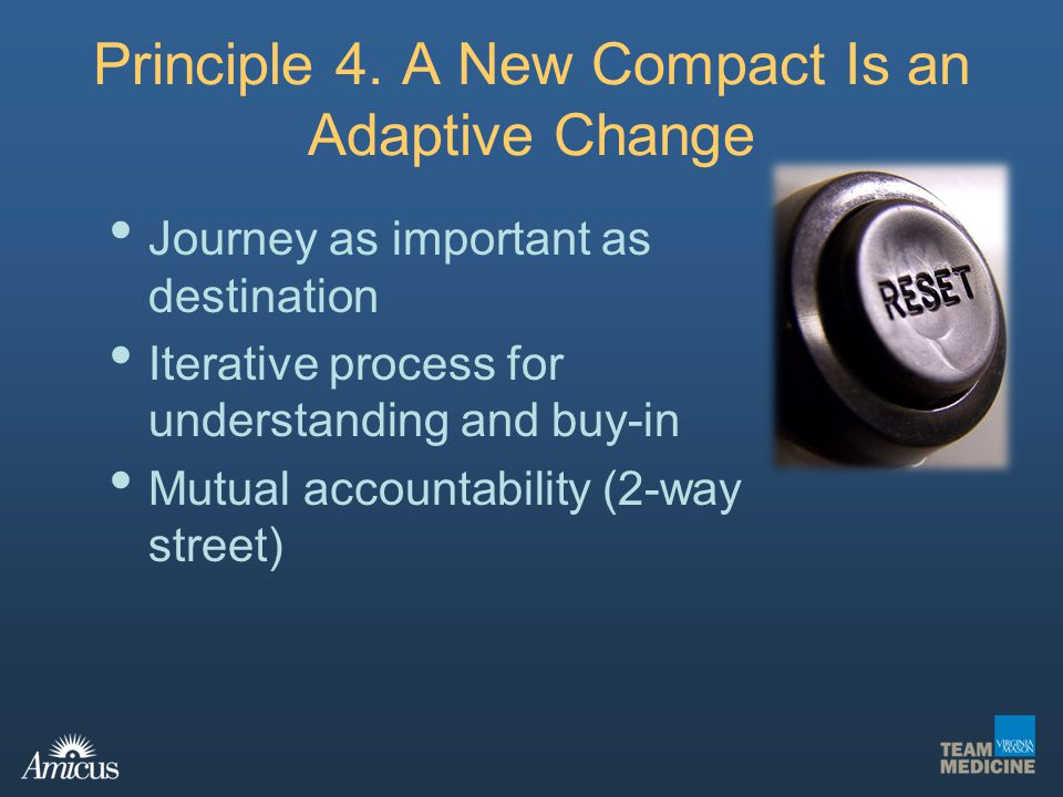 Principle 4. A New Compact Is an Adaptive Change