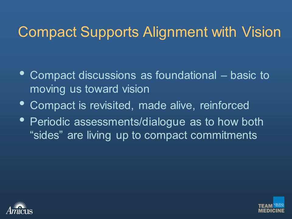 Compact Supports Alignment with Vision