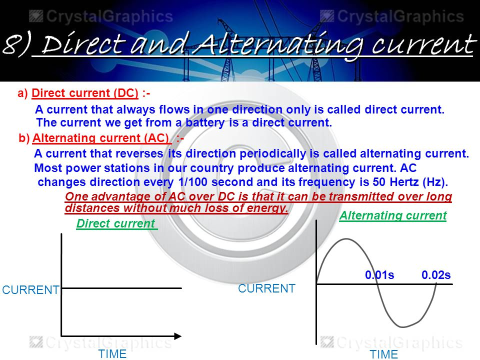 8) Direct and Alternating current