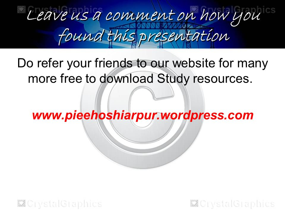 Leave us a comment on how you found this presentation