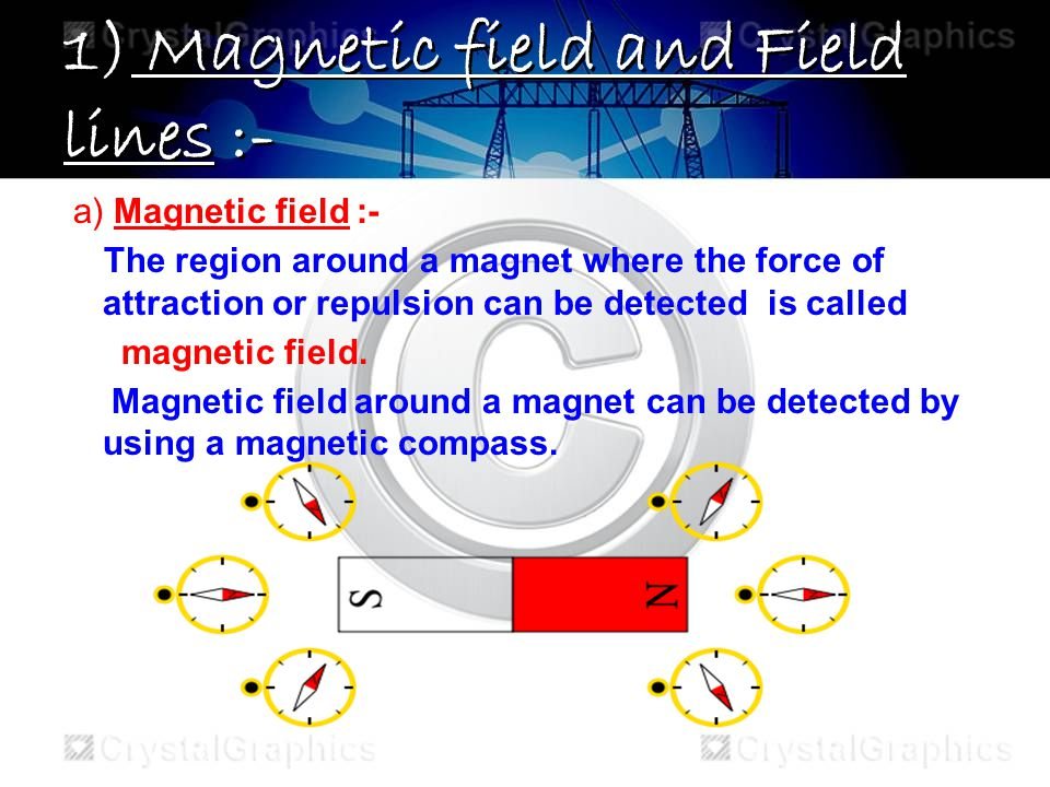 1) Magnetic field and Field lines :-