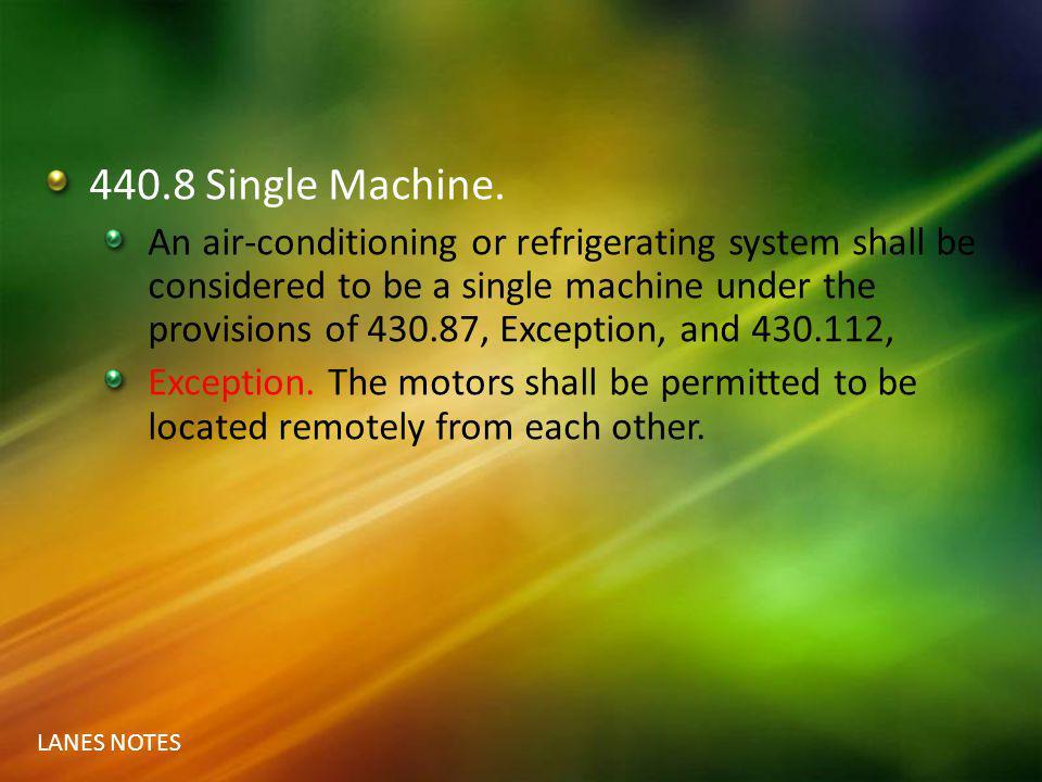 440.8 Single Machine.